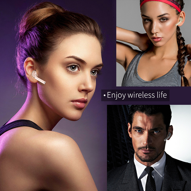 Mini Bluetooth Wireless Earphone with Microphone Music Sport Headset Universal for Iphone 8 8 plus Samsung Xiaomi Mobile Phones