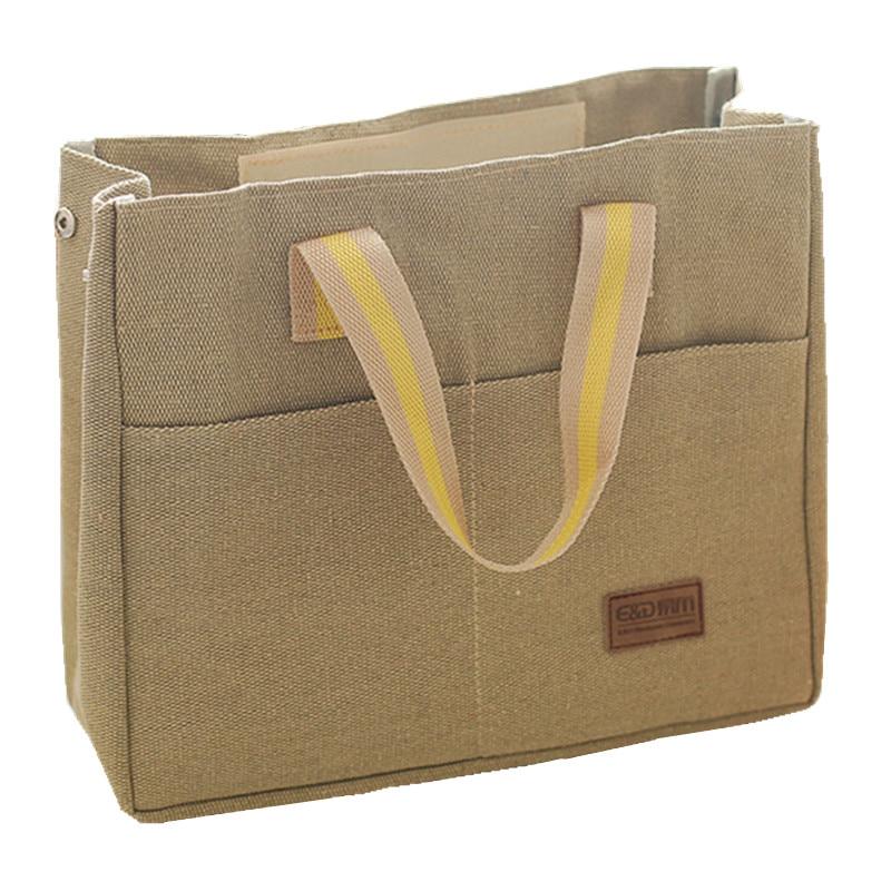 handbag canvas lunch bag drink food thermal ice cooler women kid picnic bento box insulated pack. Black Bedroom Furniture Sets. Home Design Ideas