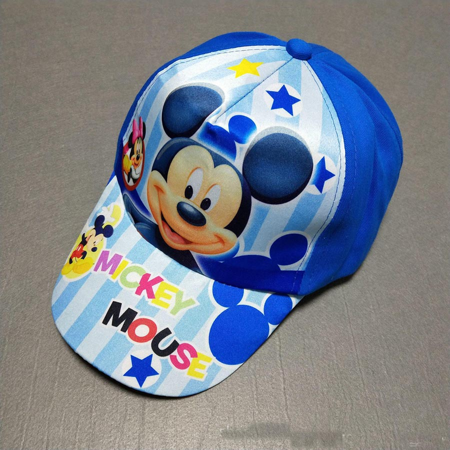 New Character Kids Snapback Spring Summmer Cotton Fabric Baseball Cap Boys Girls Cartoon Hats Mickey Averngers Sun Visor Hat wool 2 pieces set kids winter hat scarves for girls boys pom poms beanies kids fur cap knitted hats