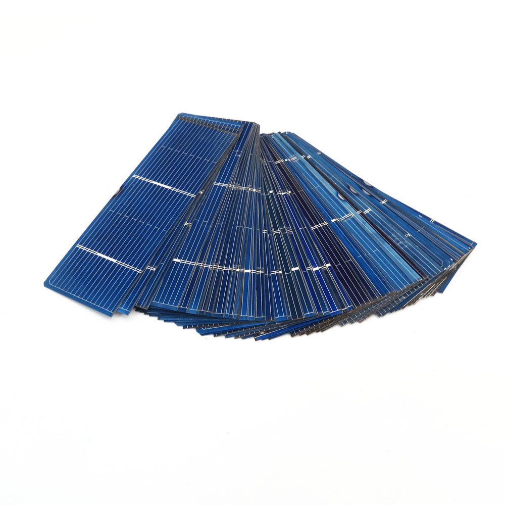 50pcs/lot 125 156 Solar Cells Panel DIY Charger Polycrystalline Battery Charge 5V 6V 12V Silicon Sunpower 5/6 Inch Mono Poly