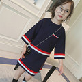 girls clothes winter outfit casual clothes suit autumn sport sets for baby girl striped set shirt + skirt school style