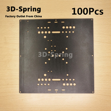 100Pcs Openbuilds Universal Build Plate Aluminum CNC Sandblasting oxidation 216*216*3 216x216x3 mm For 3D printer