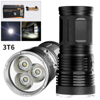 3 Light Gears Handheld Portable CREE T6 Led Flashlight Super Bright Small LED Torch for Outdoor Hunting Camping Lanterna Lampe