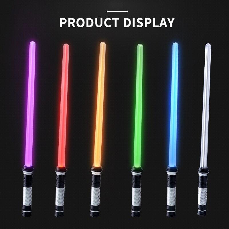Sabre de luz brinquedos para crianças sabre oyuncak luminosa jedi sabre laser espada acender led piscando brilho no escuro