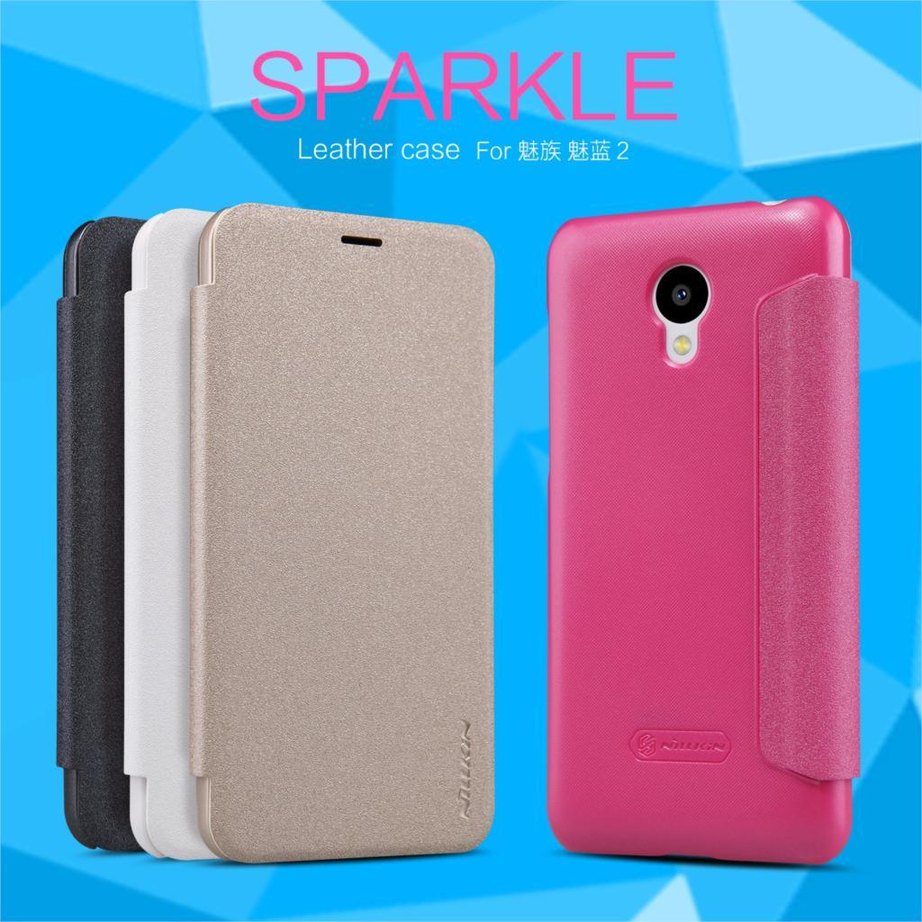 Оригинальный Nillkin Sparkle Series модные Искусственная кожа чехол флип чехол для Meizu M2 Mini жесткий Пластик задняя крышка с розничной упаковке
