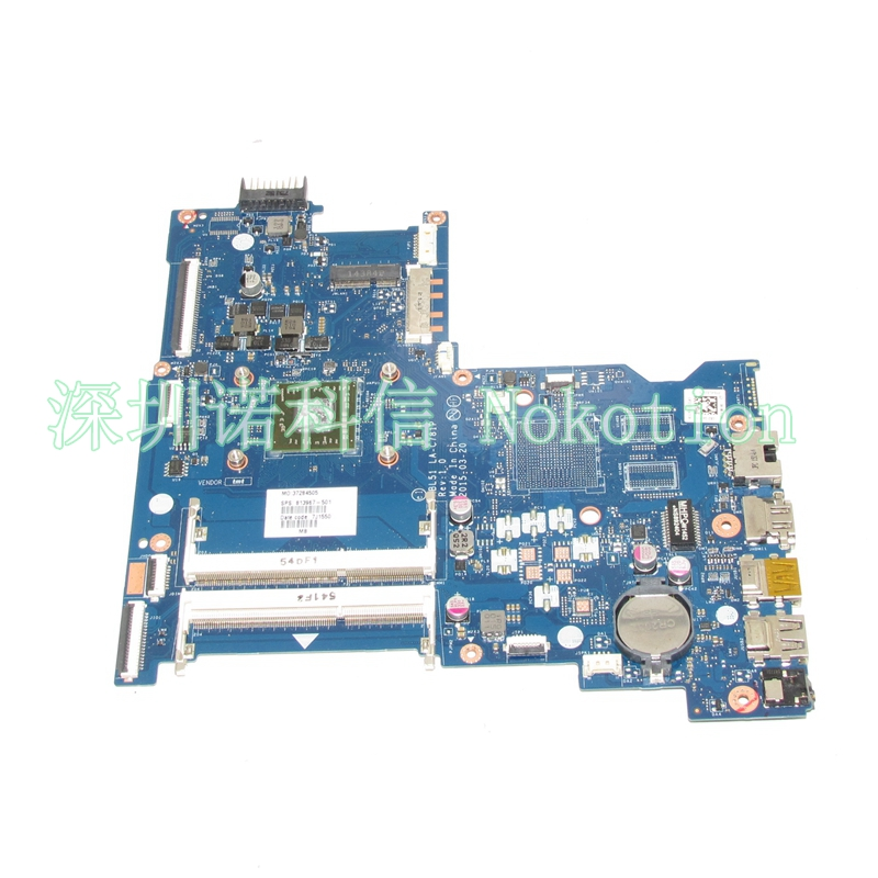 NOKOTION 813967-501 818060-601 Laptop Motherboard for HP 15-AF ABL51 LA-C781P A6-6310M CPU Mainboard Full works nokotion original laptop motherboard abl51 la c781p 813966 501 for hp 15 af mainboard full test works
