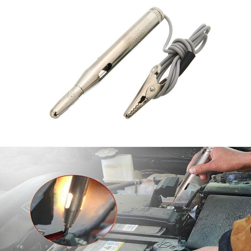 цена DC 6V 12V 24V Copper Auto Car Light Circuit Tester Lamp Voltage Test Pen Detector Probe Light System Test Probe Lamp