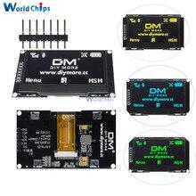 """2,42 """"дюймовый ЖК экран 12864 128X64 OLED модуль дисплея IIC I2C SPI серия C51 STM32 SSD1309 для Arduino белый/синий/зеленый/желтый"""