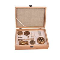 New High Quality Copper Incense Burner Set Fine Censer Tool Box Gifts And Crafts Home Decorations Incense Holder Aroma Furnace