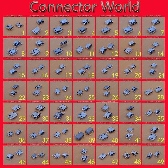 49 モデル/98 ピースマイクロミニ USB コネクタソケットポートジャック 5 ピン 5pin サムスン、 Htc レノボ、 Zte huawei 社... 携帯電話タブレット PC