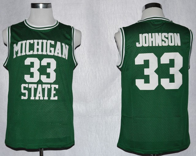 c832d70b Magic Johnson College Jersey #33 Michigan State Spartans Basketball Jersey  Stitched Retro NCAA College Basketball Jerseys