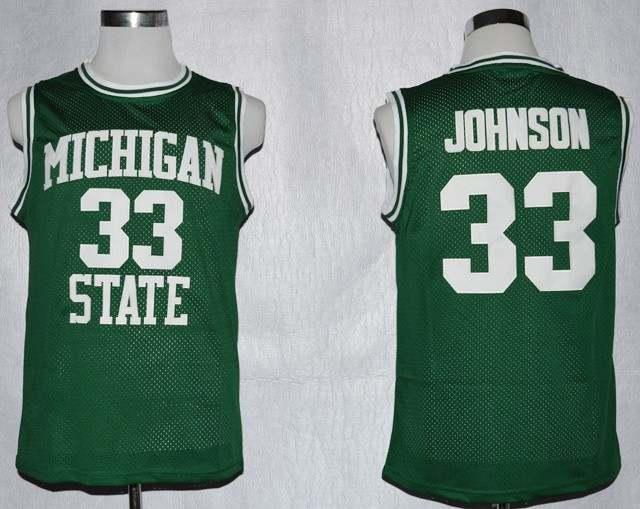 pretty nice 32093 e0de4 Magic Johnson College Jersey #33 Michigan State Spartans ...