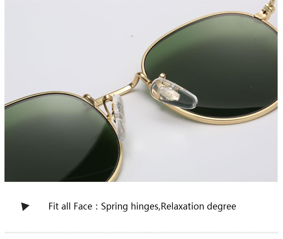HTB1QHfOcRxRMKJjy0Fdq6yifFXat - Luxury Round Sunglasses Women Brand Designer 2018 Retro Sunglass Driving Sun Glasses For Women Men Female Sunglass Mirror 3447