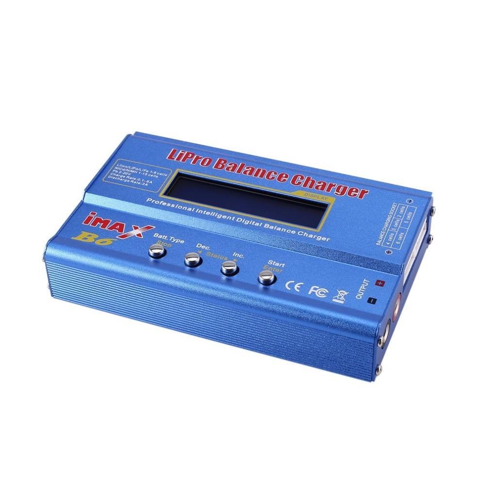 Chargeur d'équilibre iMAX B6 80 W 6A Lipo NiMh Li-ion ni-cd RC chargeur 10 W 2A avec adaptateur ca/cc 15 V/6A pour batterie modèle RC