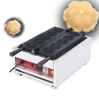 Free Shipping 110v 220v Electric Commercial 5pcs Cherry blossoms Waffle Stick Maker Iron Machine Baker