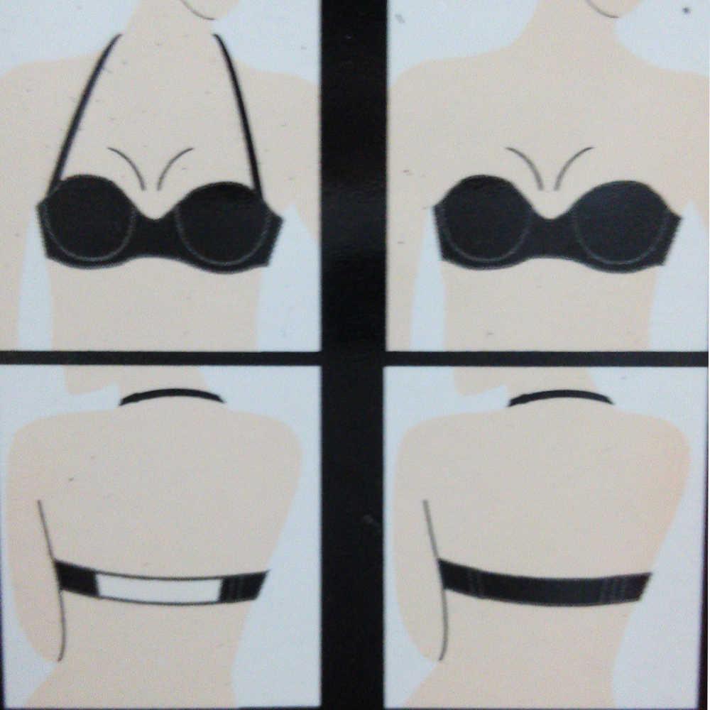 Nuevos sujetadores de boda para mujeres Multiway Sexy sujetador Invisible transparente espalda Halter cuello Bralette negro blanco desnudo BH Lencería sin tirantes