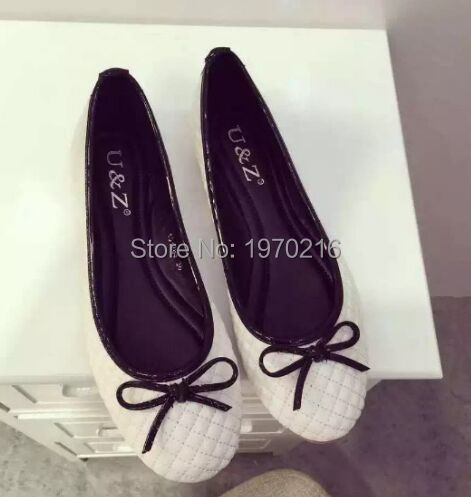 ФОТО 2016 Women Footwear Casual Check pattern Slip-On bowtie Women Flats Mother Shoes cute Nurse Shoes Comfortable ballet Flats 35-39