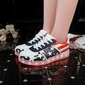 Привело Обувь Мужчин Случайные Разноцветные Светодиодные Светящиеся Обувь С Загораются USB Аккумуляторная Освещенные светящиеся Обувь Для Взрослых Deepblue