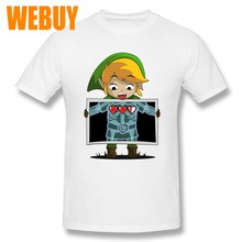 98da5af8 Man 100% Cotton Links X-ray Photo The Legend of Zelda Homme Tee Shirt For  Male Fashion O-neck T-Shirt