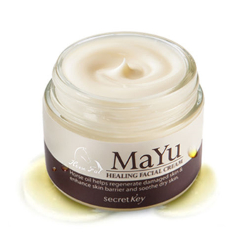 SECRET KEY Mayu Healing Facial Cream 50g Korea Horse Oil Cream Anti Aging Cream Scar Removal Face Body Whitening Cream Skin Care