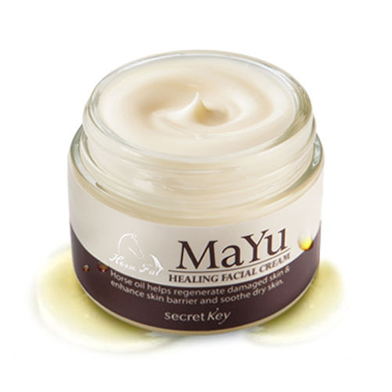 SECRET KEY Mayu Healing Facial Cream 50g Korea Horse Oil Cream Anti Aging Cream Scar Removal Face Body Whitening Cream Skin Care