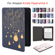 Voor Amazon 2019 Kindle Paperwhite 4 10th Generatie Case Cover Beschermende Shell Ultra Slim Smart Folio Magnetische Pu Leather Cover(China)