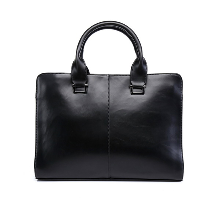 ФОТО Men Leather Handbags Youth Shoulder Messenger Business Briefcase Korean Version 2016 Fashion Style