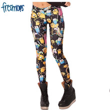 X-032 High quality Lowest price ADVENTURE TIME cartoon pattern 3d print 20 designs women pants PUNK women leggings casual