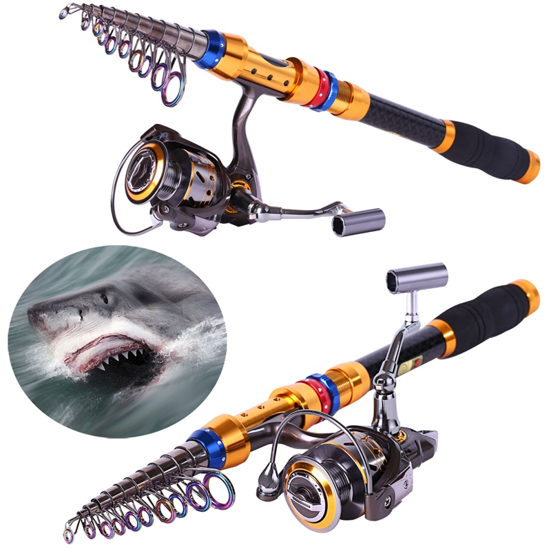 Sougayialng 99%Carbon1.8-3.6M Telescopic Fishing Rod Pole With 13BB Metal Spinning Reel Fishing Rods and Reels Set Kit De Pesca 2 1m fishing rod reel kit telescopic spinning rods portable mini pen fish rod telescope spin fishing pole rod reel combo tackle