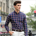 2016 New Men's Casual Classic Plaid Long-sleeved Shirt Cotton Autumn Fashion Men's Shirts Brand-Clothing Camisa Masculina 5XL