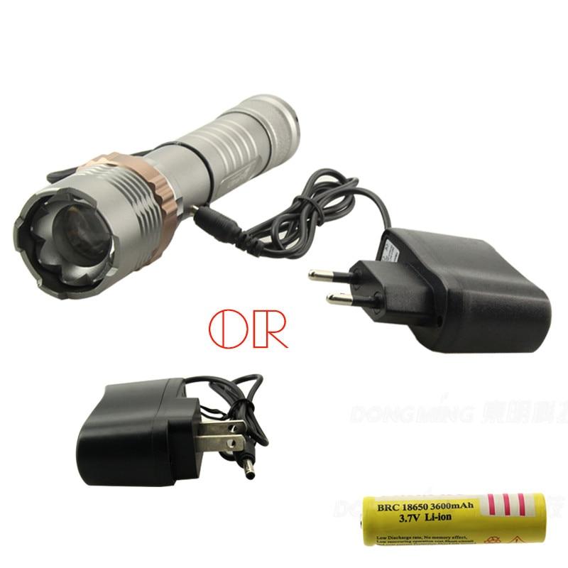 Hot koop Gun grijs zaklamp Tactische oplaadbare 5000LM 4.2 V XML-T6 - Draagbare verlichting