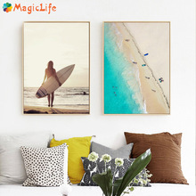 Surf Board Beach Sexy Girl Quotes Modern Wall Art Canvas Painting Nordic Poster Pictures  Unframed
