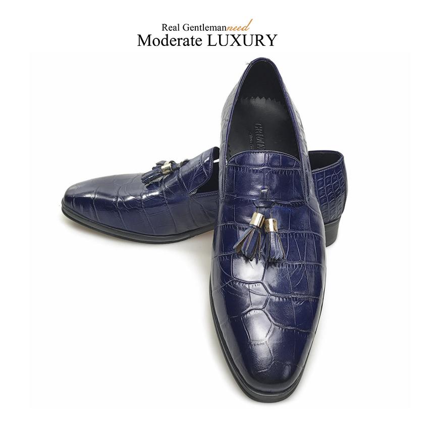 cb1f14951 GRIMENTIN الايطالية رجل أحذية الماركات الانزلاق على جلد طبيعي شرابة ...