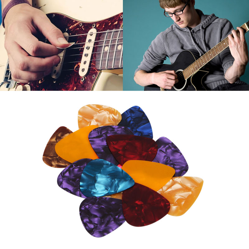 15X Celluloid Colorful Guitar Picks Plectrums For Acoustic Electric Guitar Bass Accessories Plectrums Picks