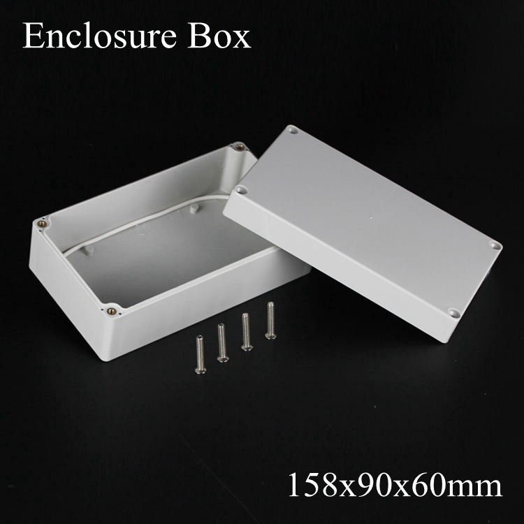 (1 piece/lot) 158*90*60mm Grey ABS Plastic IP65 Waterproof Enclosure PVC Junction Box Electronic Project Instrument Case waterproof abs plastic electronic box white case 6 size