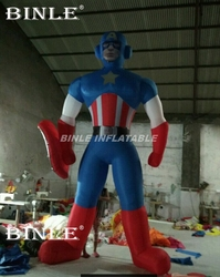Venta caliente publicidad Marvel superhéroe inflable Capitán América modelo para promocional