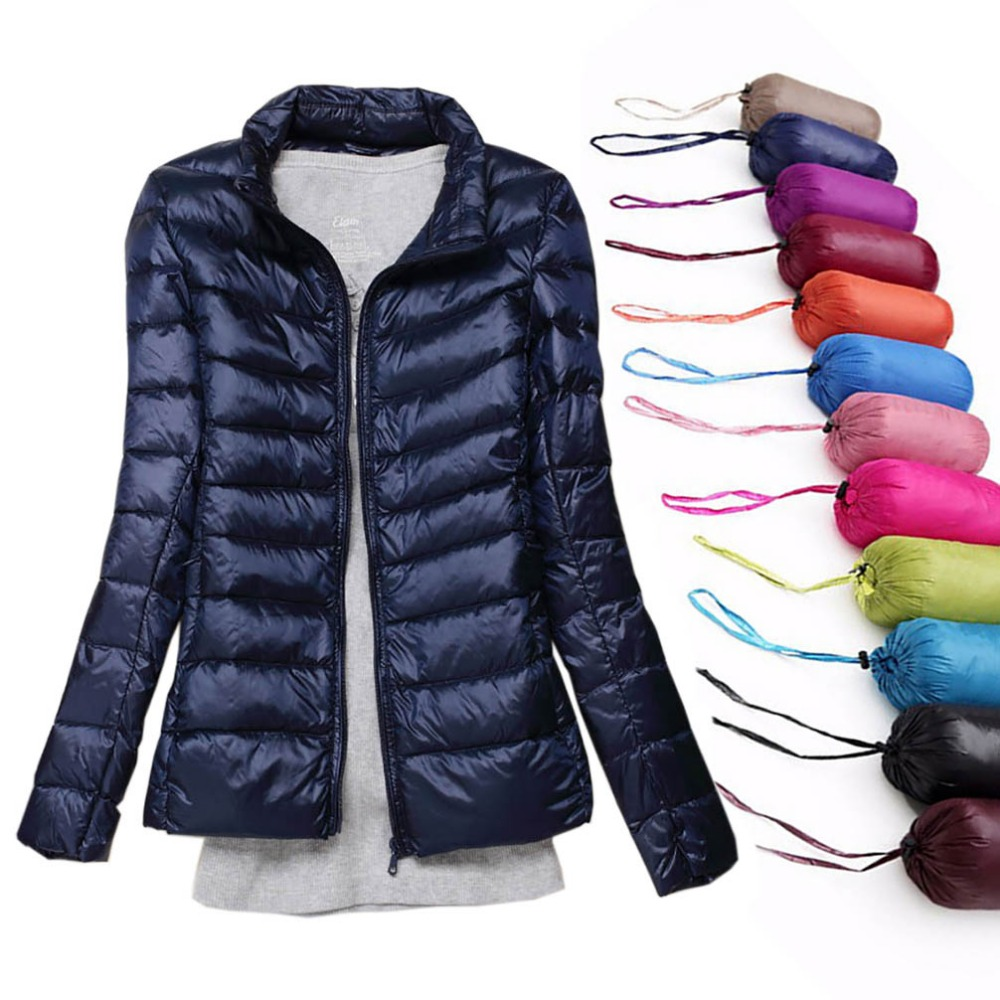 Winter Women Jacket White Duck   Down   Jacket Women Autumn Slim Warm   Coat   Lady Ultralight Long Sleeve   Down     Coat   Female Plus Size