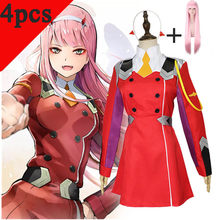 DARLING 02 Zero Two Cosplay Costume DARLING in the FRANXX Cosplay DFXX Women Costume Full Sets KOKORO school uniform suit set(China)