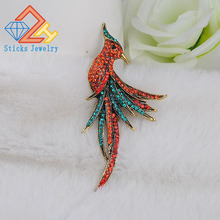 Top Quality Brand  Jewelry Very Nicely Cute Birds Crystal Brooches