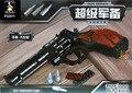 Подлинная Ао Сини Цвет Металла Игрушечный Пистолет LegoStyle детская Игрушка Блоков Собраны Серии Супер Оружие-Пистолеты Большой Револьвер