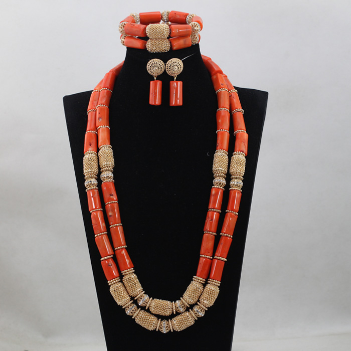 Fashion Long Orange Coral Beads Jewelry set Nigerian African Wedding Bridal/Women Beads Necklace Jewelry Set Free Shipping CJ825Fashion Long Orange Coral Beads Jewelry set Nigerian African Wedding Bridal/Women Beads Necklace Jewelry Set Free Shipping CJ825