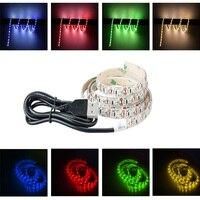 USB LED 스트립, TDRSHINE 3.3ft/1 메터 유연한 로프 조명, 침실 옷장, TV, 모니터 백라이트 단일 색상