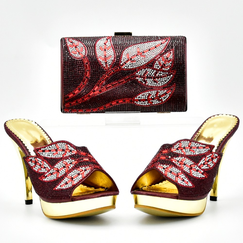 On sales wine red elegant 4 inche shoes with clutches bag size 37 to 42 with clutches bag SB8139-4 shoes and bag low price salesOn sales wine red elegant 4 inche shoes with clutches bag size 37 to 42 with clutches bag SB8139-4 shoes and bag low price sales