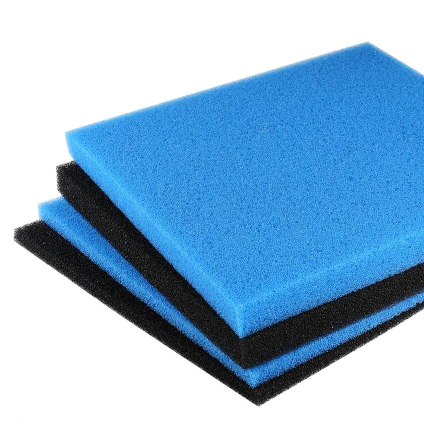 Sunsun acuario bioquímico algodón filtro reutilizable algodón tanque de peces purificador de agua negro azul bioquímico algodón 2 cm / 4 cm