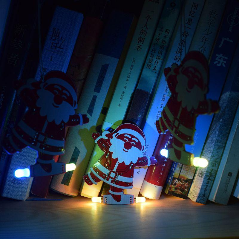 DIY Santa Claus Christmas Tree Decoration Pendant Music Kit Easy Make US