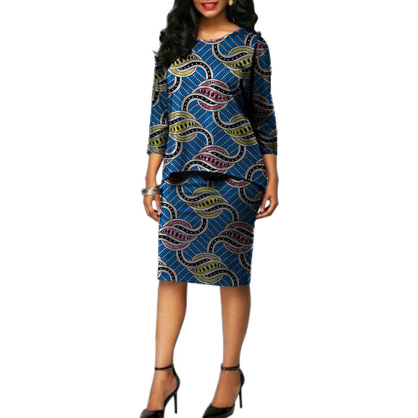 a504f54045 Ankara set clothing for lady print shirts with skirts 2 pieces African print  women s outfits customized