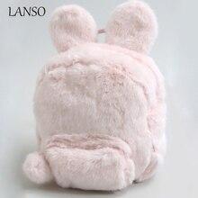 Женские 3D животных рюкзак Японии WEGO милые заячьи уши Рюкзаки шерстяные Двойной сумка для девочек-подростков Детские рюкзаки