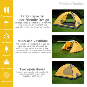 Image 3 - GeerTop Large Family Tent Four Season 4 6 Person Roof Top Winter Camping Tents Waterproof Durable Tent Outdoor Hiking Tourist