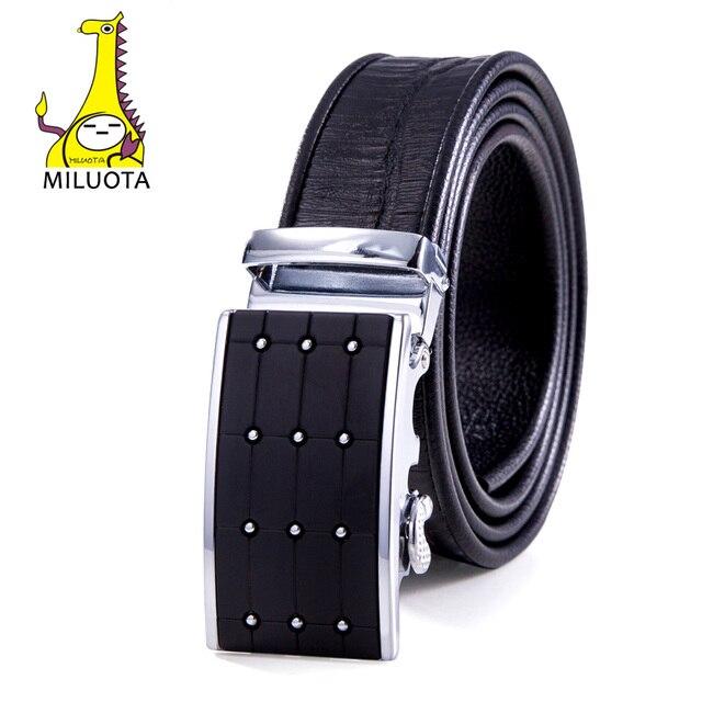 2016 Mens Belts Luxury Fashion Crocodile Man Leather Belt Sliding Buckle Ratchet Automatic MU041