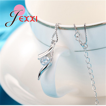 Genuine 925 Sterling Silver NEW Fashionable Design Pendant Necklace CZ Wedding Jewelry Pretty Chain For Women/Grils 1